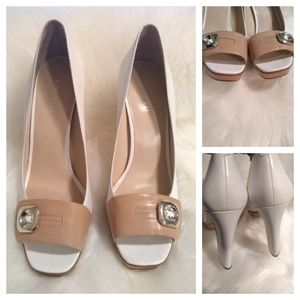 Nine West leather platforms sz 9.5